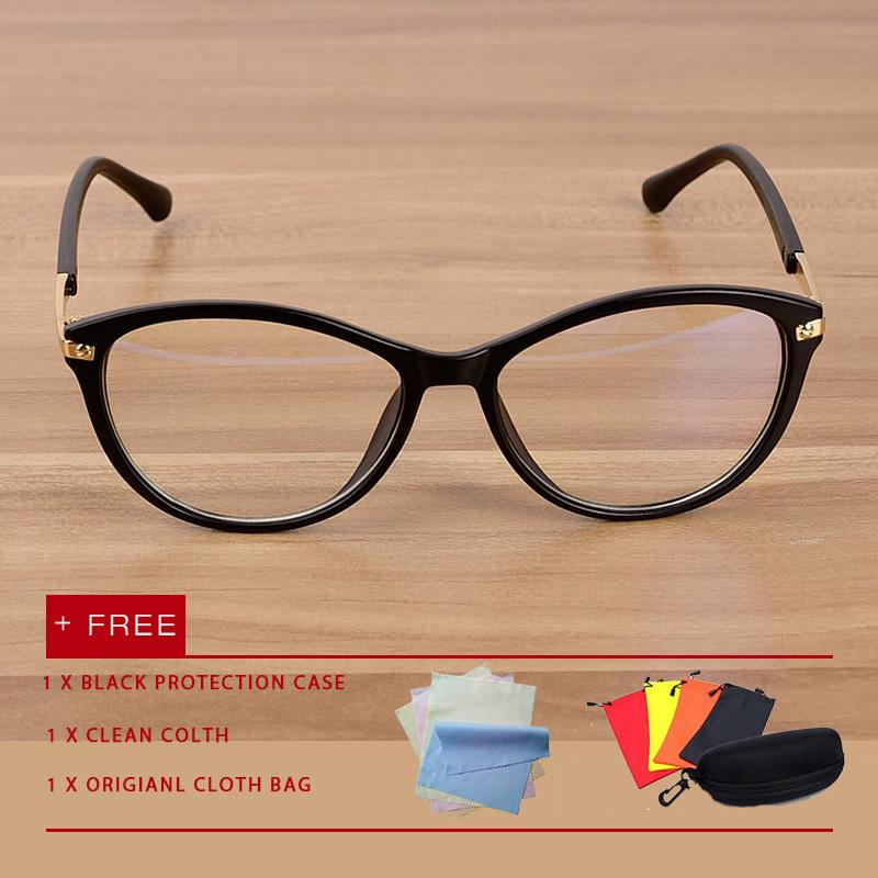 Klasik Pria Mata Kucing Perempuan Kacamata Kacamata Anti Cahaya Biru  Kacamata UV Kacamata Lensa Kacamata Datar 8fbe5a15c1