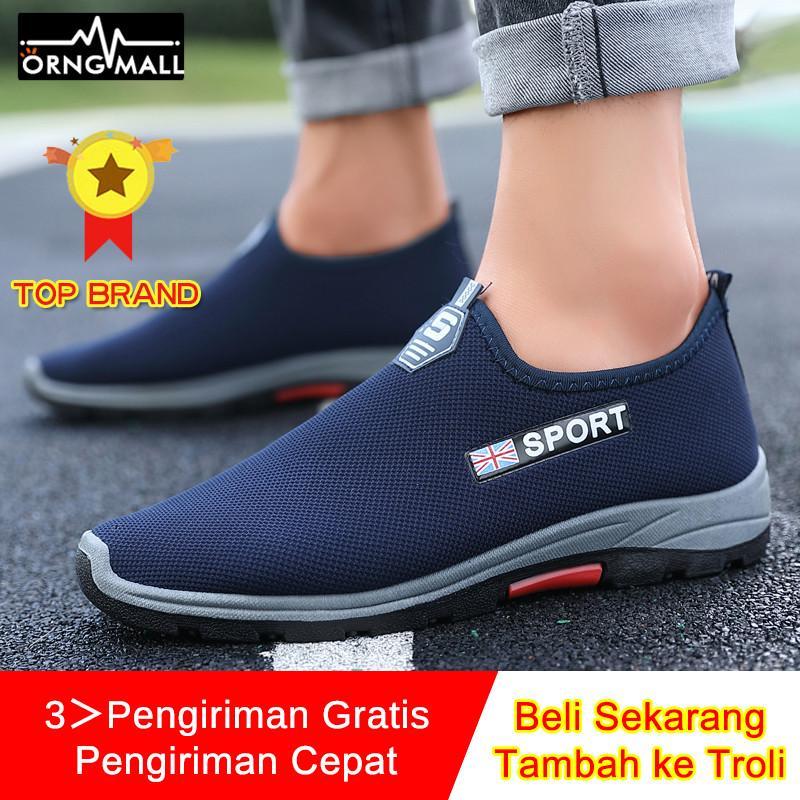 Orngmall Baru Pria Kasual Sneakers Berjalan Sepatu Malas Nyaman Mengemudi Sepatu Olahraga Sepatu Atletik Untuk Pria Slip-On Loafers Moccasin By Orng Mall.