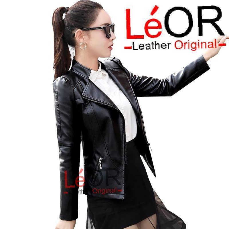 Jaket kulit wanita Korea terbaru 2019 jaket kulit wanita black  blazer  wanita  outwear 10f61bd3b1