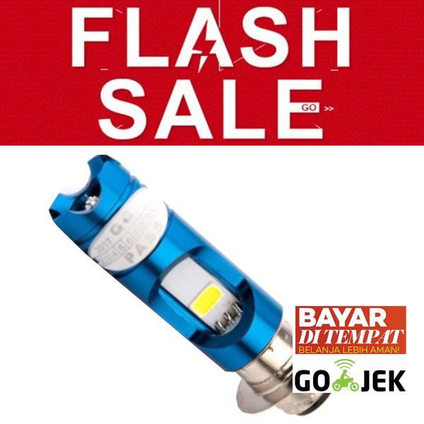 FLASH SALE: RajaMotor Lampu Depan LED H6 AC/DC - Putih/Biru -