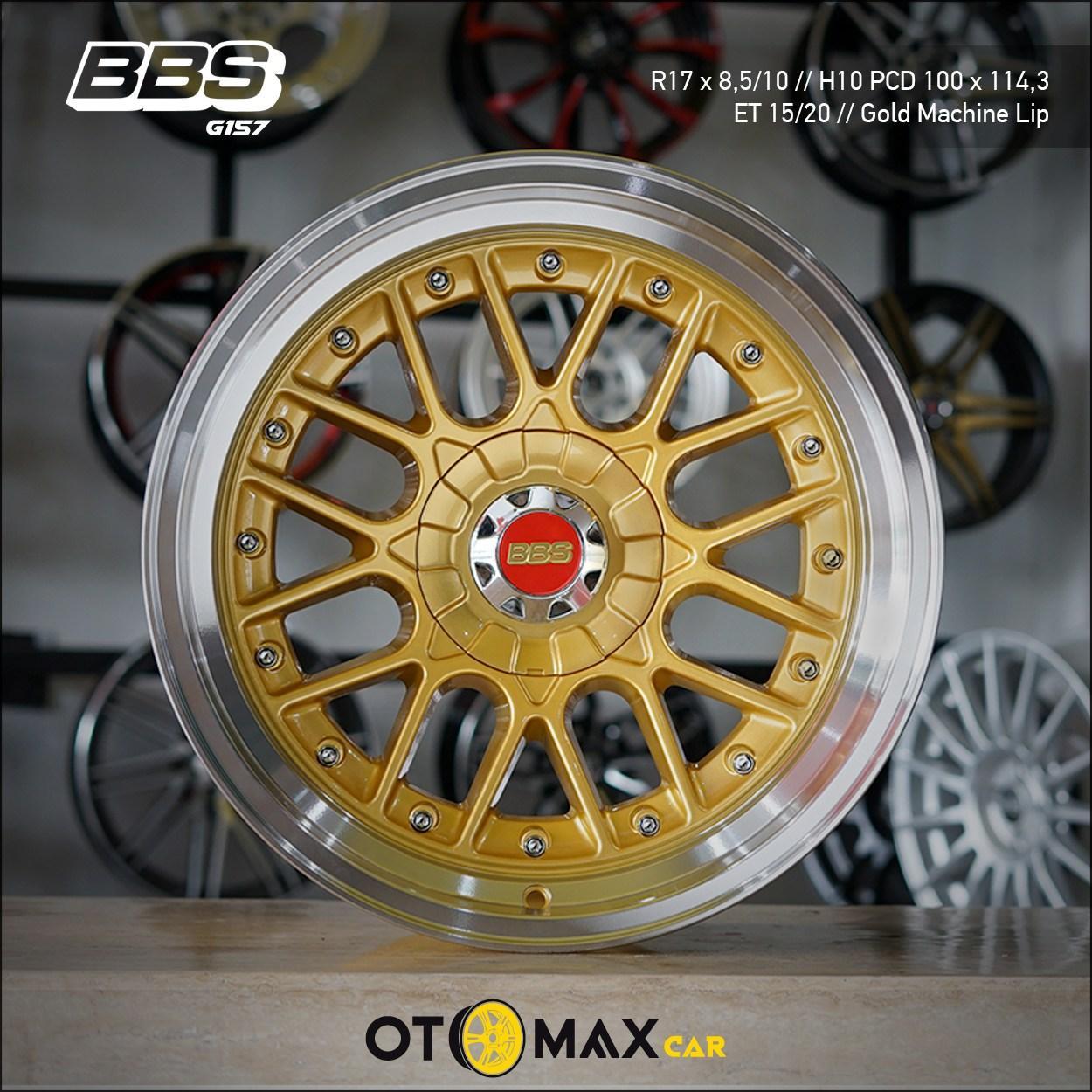 Velg Mobil BBS G157 Ring 17 Gold Machine Lip