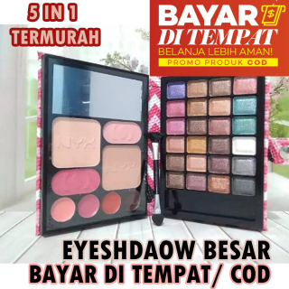 Zacksho Eye Shadow Pallete Mix Warna Ads Eyeshadow Pallete Make Up Set NYX 5 in 1 thumbnail