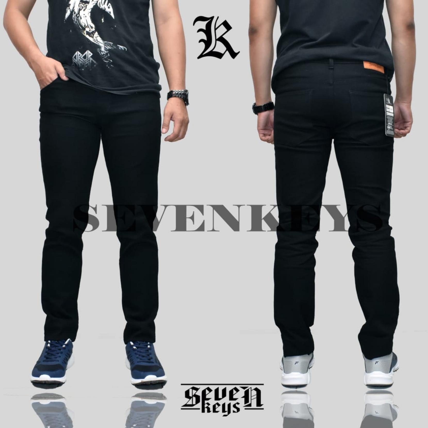 Celana jeans pria skiny   slimfit pria sevenkeys 8da67dd6ec