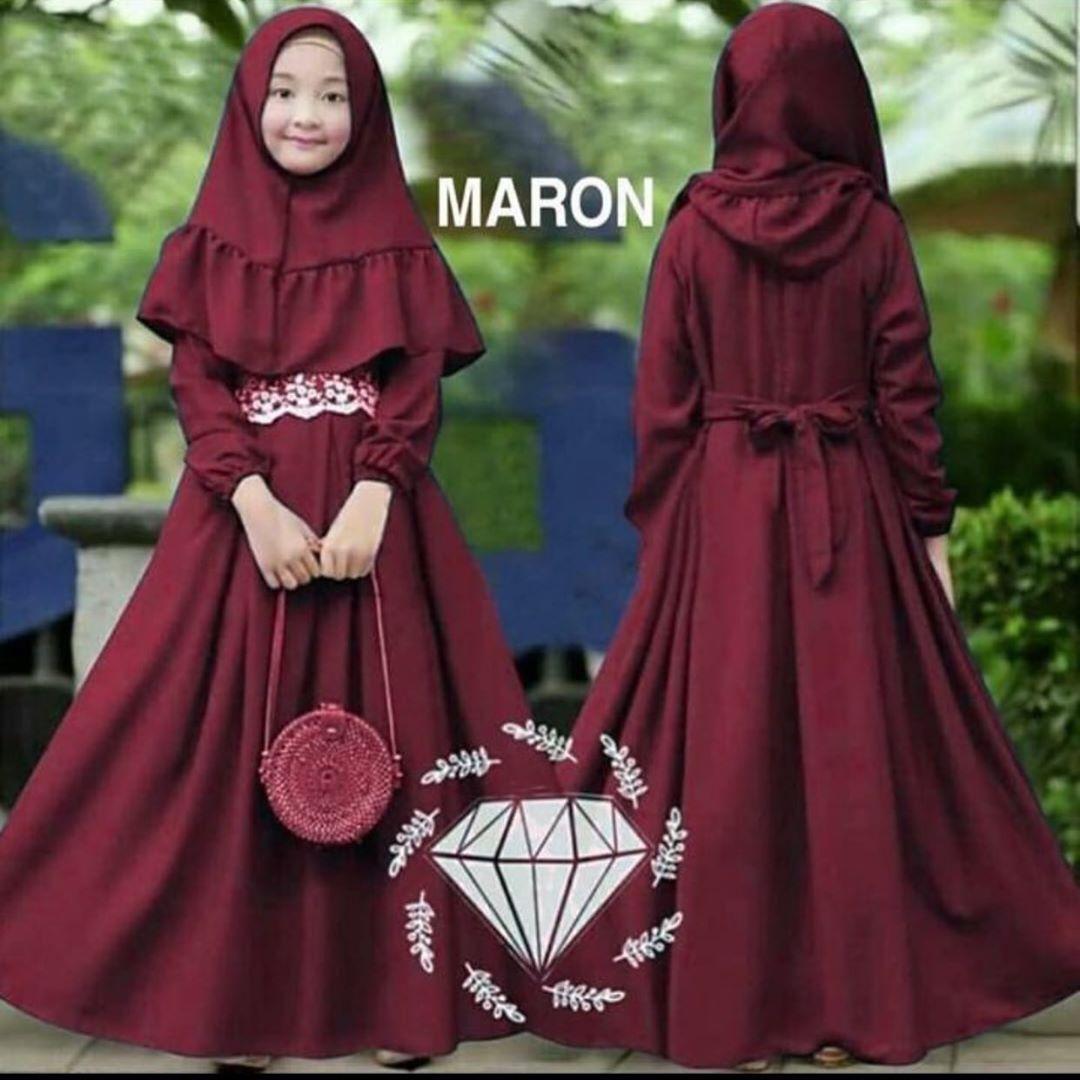 Delisa Syari Free Khimar Kids / Gamis Anak Umur 8-8 Tahun / Gamis Anak  Perempuan / Baju Muslim Anak / Baju Anak Terbaru / Gamis Anak - Anak