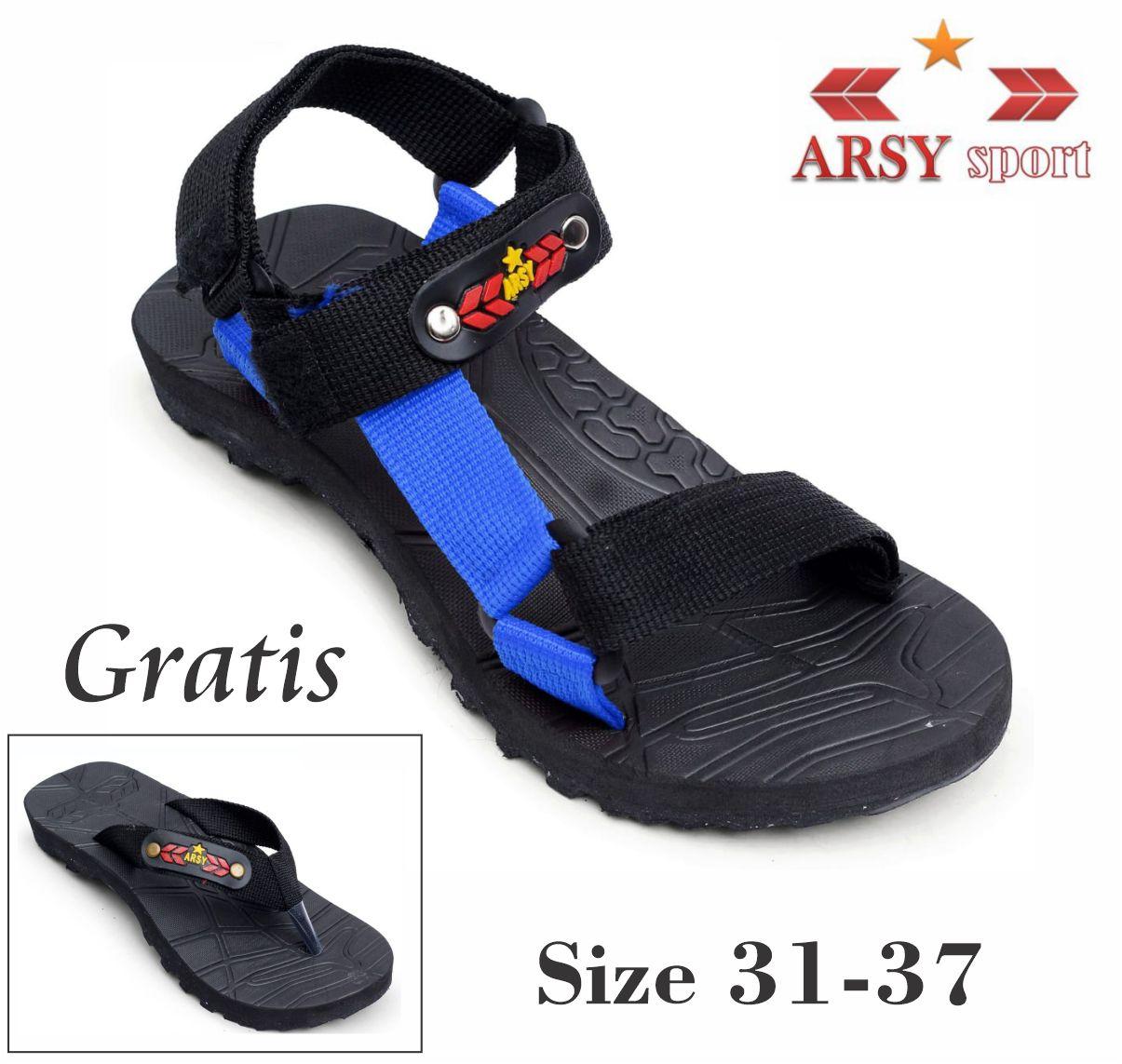 Arsy Sport / Sandal Gunung Anak / Sandal Gunung / Sandal Baby / Sandal Anak Size 31-37 Gratis Sandal Jepit