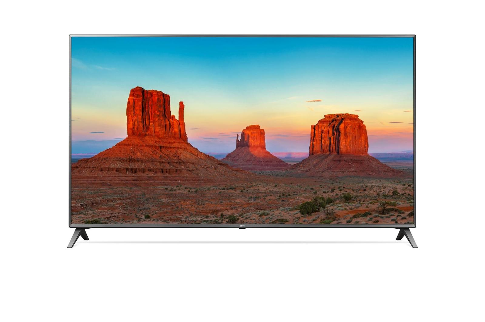 "LG Led Tv 43"" 43UK6500 – Hitam - Khusus Jadetabek"