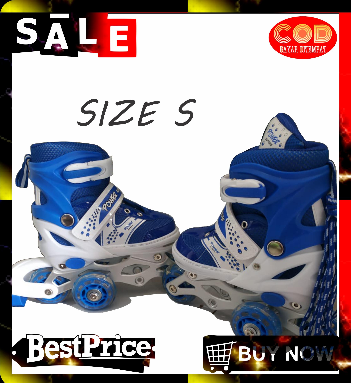 GLOBAL SEPATU RODA sport sepatu roda bajaj lampu anak super murah inline skate power TZX SHOP