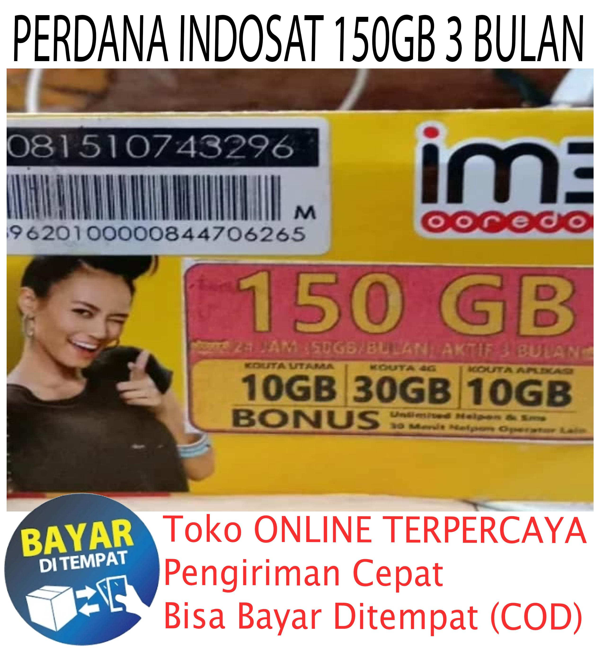 Kartu Perdana Kuota Internet Indosat 150gb 3 Bulan / Perbulan 50gb By Hr Collection.