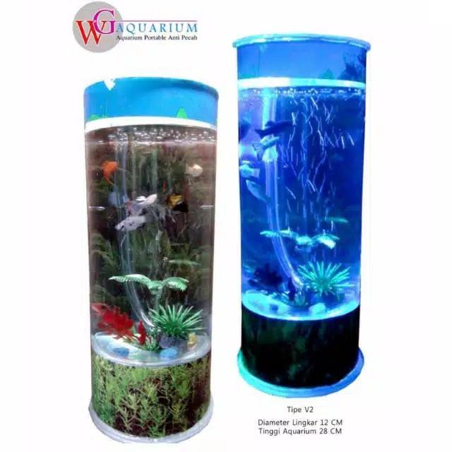 aquarium mini plus mesin wg aquarium tipe v2