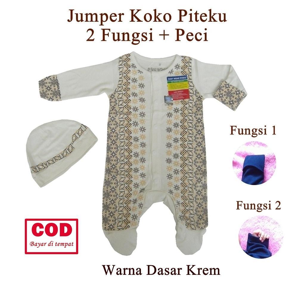 Rianni Baju Aqiqah Bayi / Jumper Koko Bayi Laki-Laki New Born (baru Lahir) Piteku / Baju Koko Bayi Baru Lahir Ukuran 0-2 Bulan By Rianni Baby.