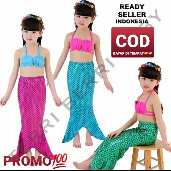 kostum mermaid putri duyung shell anak.