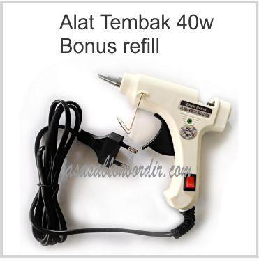 Alat Lem Tembak 40watt Bonus Refill By Dewi Makmur.