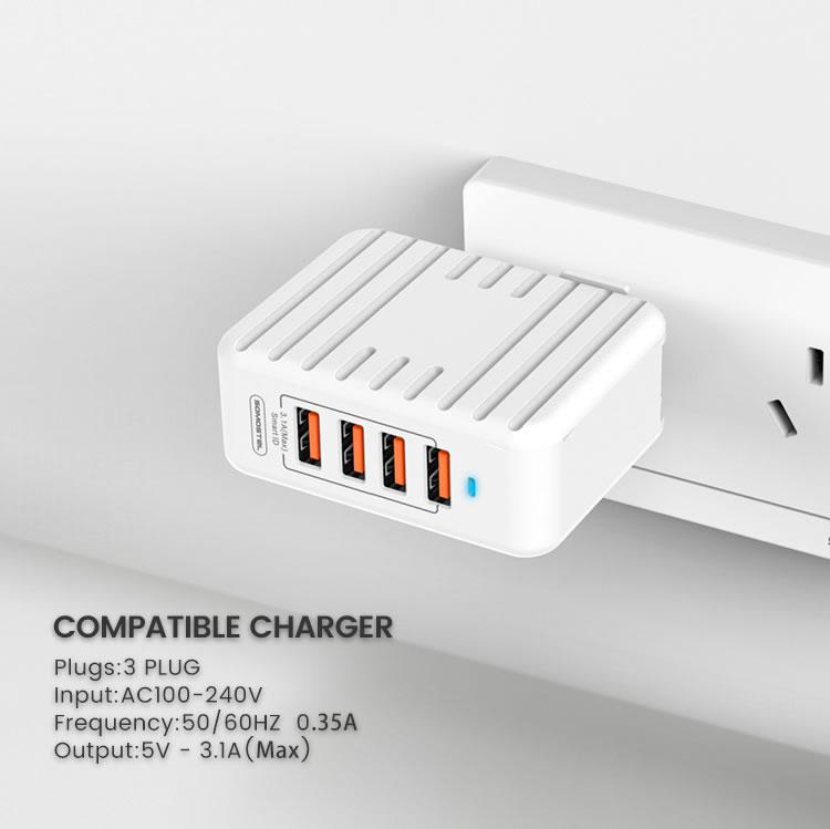 Somostel travel charger 4 usb + kabel tipe C 5f30011c0d