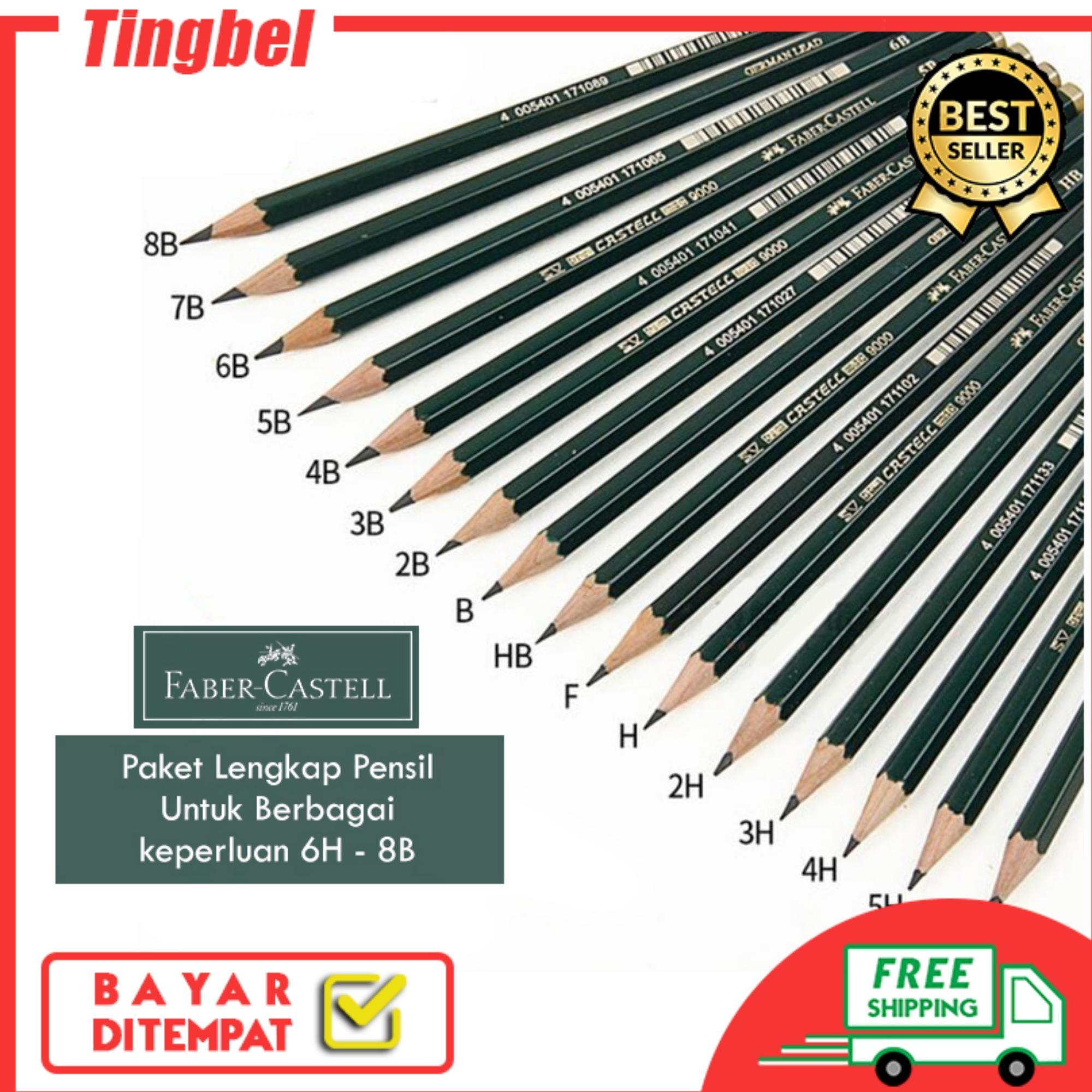Original Pensil Faber Castell 2B / Pinsil Kayu Faber Castell 8B - 6H