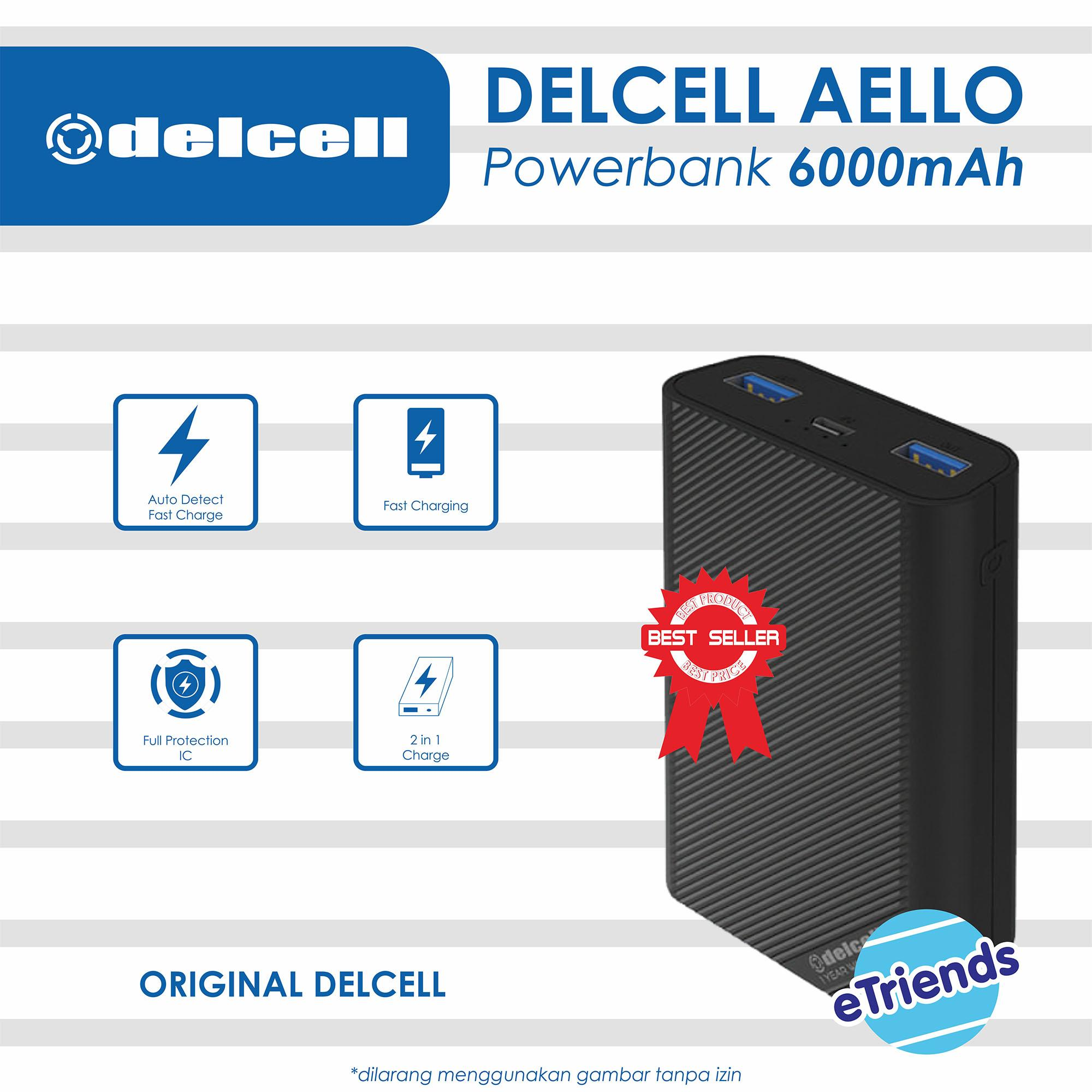 ... Real Capacity, Garansi 2 Tahun, Fast Charge, Slim Powerbank. Rp 74.700 PowerBank Delcell AELLO 6000Mah Power Bank ...