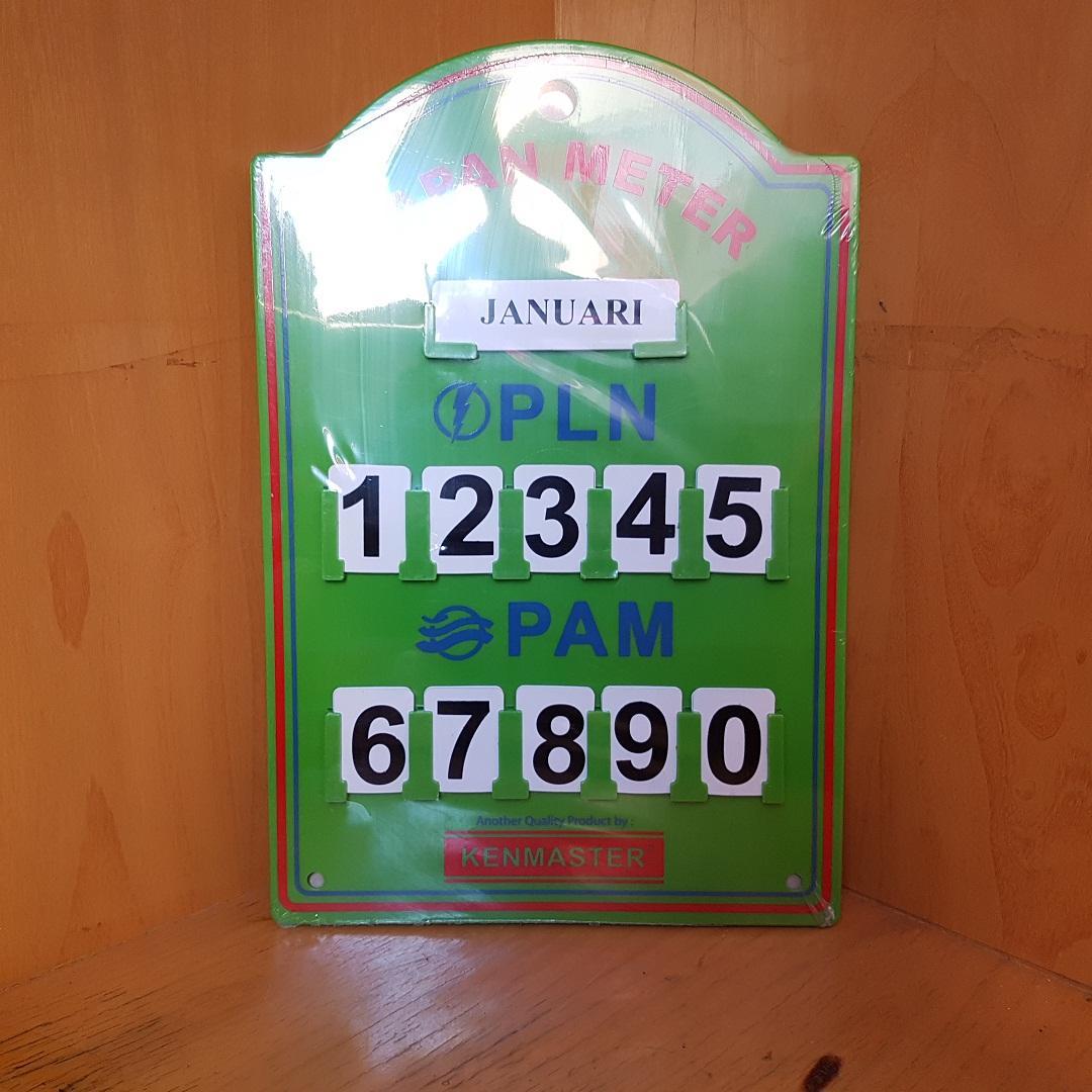 Kenmaster Papan Meteran Pln Pam Meter By Tokovalet.