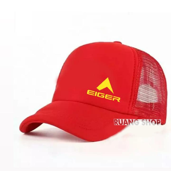 Topi Trucker Jaring Eiger Yellow Premium