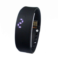 Diskon Best Ct W2 Usb Multifunctional 3D Pedometer Intelligent Bracelet Smartwatch Hitam