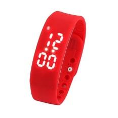 Obral Best Ct W2 Usb Multifunctional 3D Pedometer Intelligent Bracelet Smartwatch Merah Murah