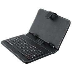 Best Leather Case Keyboard Tablet 10 Inch - Hitam