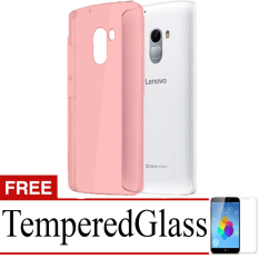 Best Seller Aircase Ultrathin For lenovo k4 note + Free Tempered Glass   - Red Clear