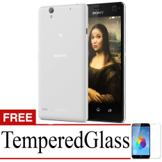 Best Seller Aircase Ultrathin For Sony Xperia c4 + Free Tempered Glass   -Grey Clear