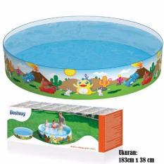 Harga Hemat Bestway 55022 Dino Fill N Fun Pool 183Cmx38Cm Kolam Anak Tanpa Pompa