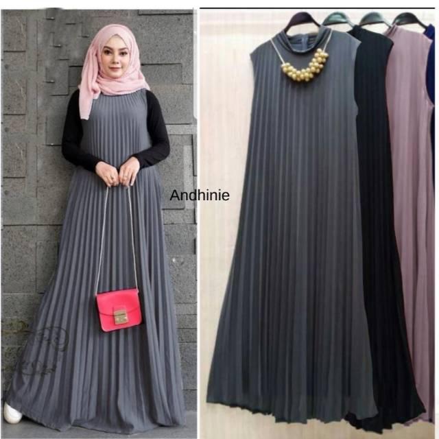 Dress Plisket Gamis Plisket Membeli Jualan Online Baju Muslim Jumpsuit Dengan Harga Murah Lazada Indonesia