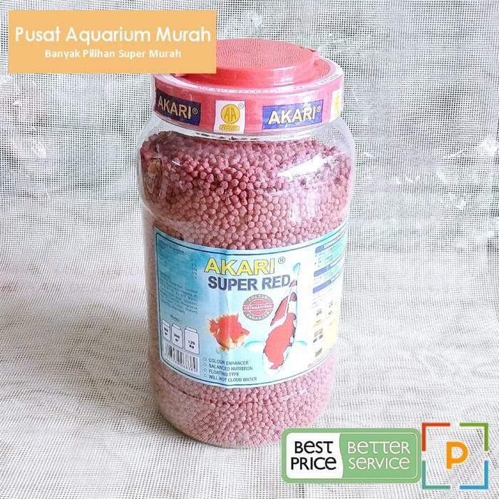 Pakan Ikan Koi Akari Super Red 2 Mm Kemasan 1,25 Kg Mencerahkan Warna By Pusat Aquarium Murah.