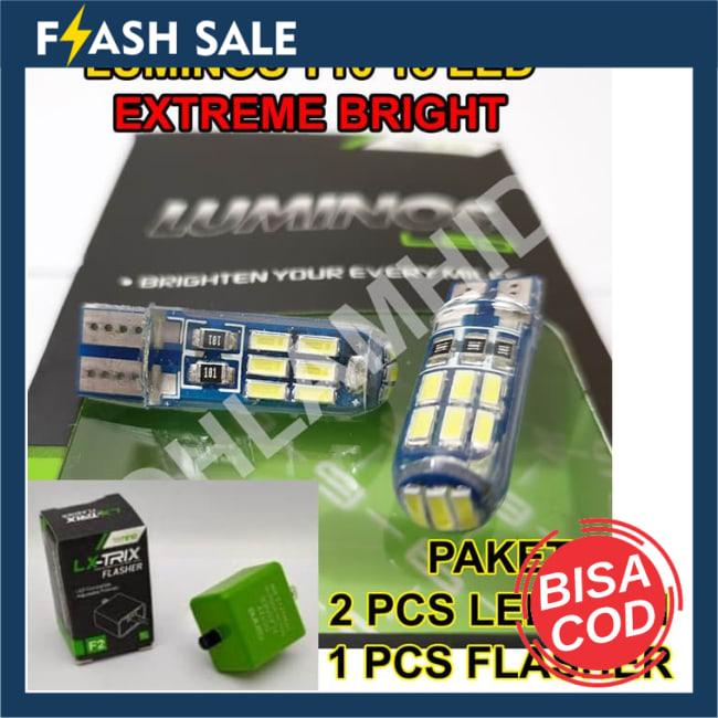 BISA COD!!!Lampu LED Sein + Flasher FINO 125 GRANDE FI LUMINOS T10 15 LED Sen || Lampu Motor || Bhid2