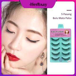 Herbaay Natural Faux Rambut Panjang Lembut Model Palang Palsu Bulu Mata Palsu Mata Makeup thumbnail