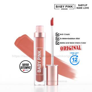 Babypink Lipcream Lipstik Baby Lip Baby Pink Skin Care Hasil Matte Dengan Kandungan Extra Grape Seed Oil & Vitamin E Dapat Membuat Bibir Jadi Lebih Lembab & Tidak Membuat Bibir Kering Pecah-pecah Tekstur Ringan Lembut Nyaman Di Bibir Resmi BPOM dan Halal thumbnail