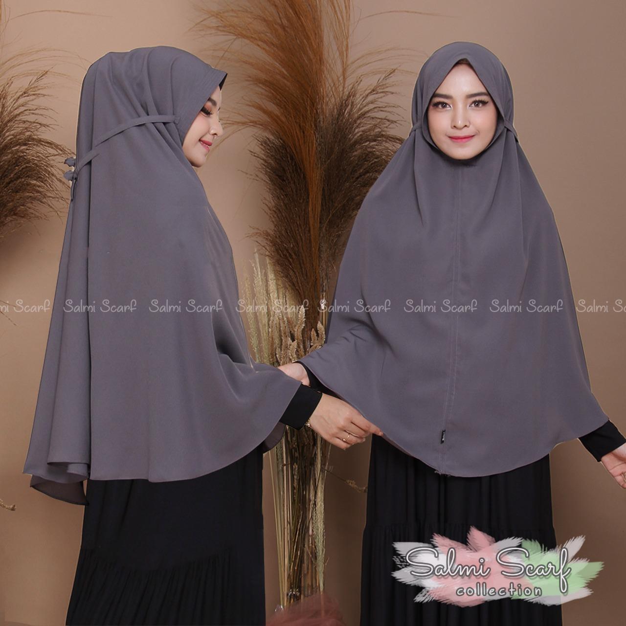 Salmi Scraf - Khimar Tali XL / Hijab Instan / Hijab Syar'i terbaru / Jilbab Syar'i / Fashion Wanita Murah / Kerudung Wanita