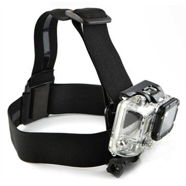 Elastic Adjustable Head Strap With Simple Anti-Slide Glue For Xiaomi Yi / Xiaomi Yi 2 4k / Gopro By Kenanstore_acc.