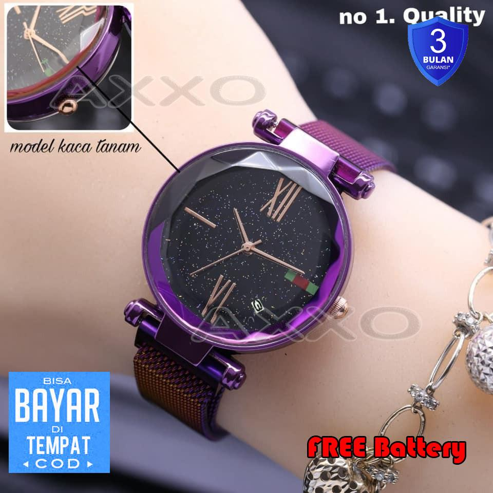 Tanggal Aktif  Jam Tangan Magnet Terbaru Wanita Fashion Watch Magnetic Jam  Tangan Tali Magnet 0163cdd668
