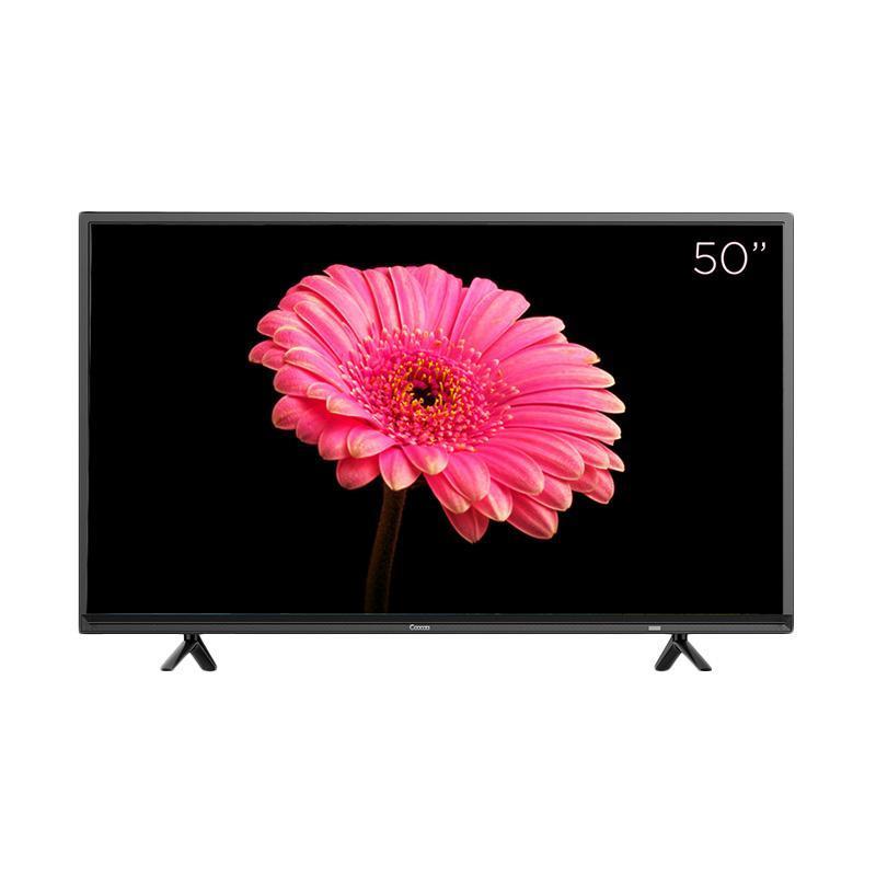 """Coocaa LED TV 50"""" 50E2A12G – Hitam – Khusus Jadetabek"""