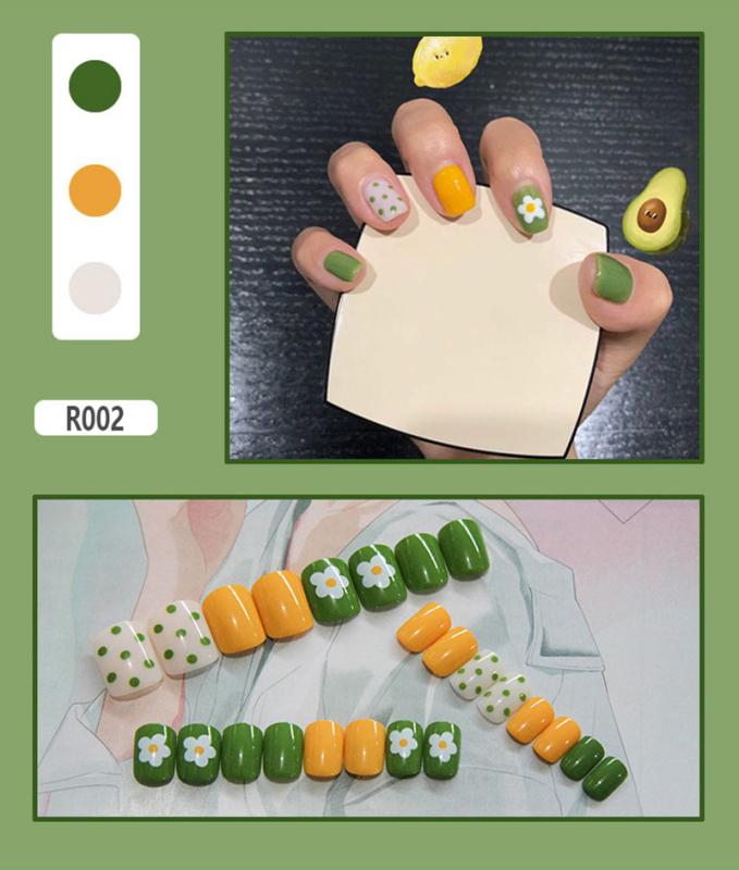 Bộ Móng Giả Acrylic Amortals 24 Món, Dụng Cụ Làm Móng Giả Bằng Acrylic Nghệ Thuật Bao Phủ Toàn Bộ Móng Tay Giả Có Keo, 14 Miếng, Bộ Hẹn Hò, Đám Cưới, Tiệc Tự Nhiên