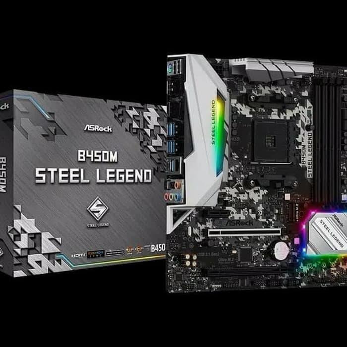 ASRock B450M Steel Legend (AM4, AMD Promontory B450, DDR4, USB3.1)