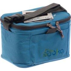 BKA Cooler Bag Plus 2 Botol ASI Kaca BPA Free Untuk Menampung ASI - Biru