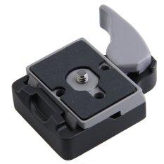 Hitam Kamera 323 Rilis Cepat Adaptor With Manfrotto 200PL-14 Compat Piring