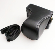 Hitam Kasus Kulit BARU Kamera Video Bag PU Case untuk Canon EOS M10 15-45mm 55-200 MM Lensa Kamera Digital (Intl) -Intl