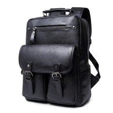 Spesifikasi Black Sch**l Tas Trendy Pria Ransel Outdoor Back Pack Kasual Tas Travel Olahraga Bickpick Mochila Kulit Knapsack Tour Packsack Yg Baik