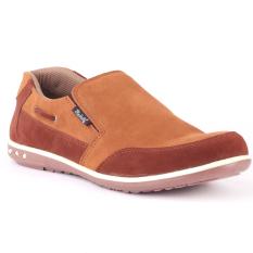 Beli Blackkelly Sepatu Slip On Durability Kulit Lfs 668 Coklat