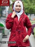 Spesifikasi Blessher Jaket Parka Wanita Red Maroon Yang Bagus Dan Murah