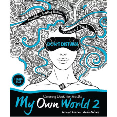 Jual Book My Own World 2 Coloring Book For Adults Travel Size Branded