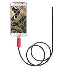 Borescope Merah 2 M 6.5FT Kabel 5.5mm Lensa 2 In 1 Dual USB Android Smartphone HD Endoskopi Inspeksi Ultra Slim 6 LED IP67Waterproof Mini USB Inspection Camera-Intl