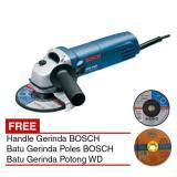 Promo Toko Bosch Gws 5 100 Handle Mesin Gerinda 4 Batu Gerinda Potong Poles