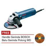 Toko Bosch Gws 5 100 Handle Mesin Gerinda 4 Batu Gerinda Potong Wd Lengkap