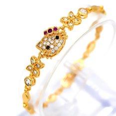Jual Beli Gelang Untuk Wanita 18 K Emas Emas Disepuh Austria Crystal Rhinestone Fashion Perhiasan Bangles Hadiah Di Tiongkok