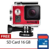 Harga Brica B Pro5 Alpha Edition Action Camera Wifi 12 Mp Merah Gratis Sd Card 16Gb Brica Terbaik